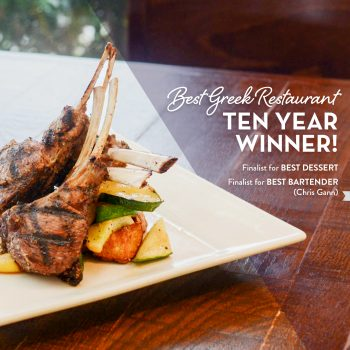 Thank you, Chattanooga, for Selecting Acropolis Grill as the Best Greek Restaurant