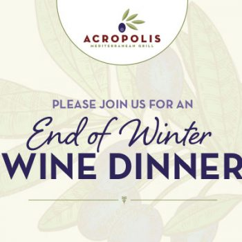 Join us for an End of Winter Wine Dinner