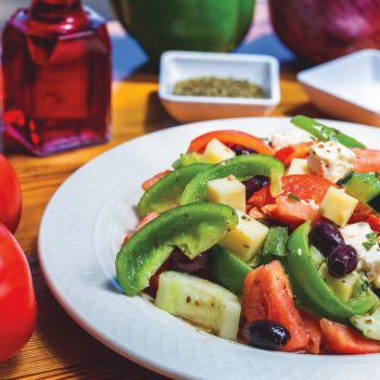 Acropolis Grill's Horiatiki (Greek Village Salad)