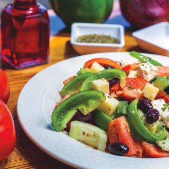 Acropolis Grill's Horiatiki (Greek Village Salad)