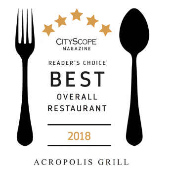Acropolis Voted the Best Restaurant in Chattanooga by Cityscope® Readers